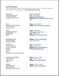 Safe Company Directory PDF